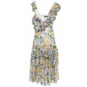 マリッサ ウェッブ MARISSA WEBB レディース ワンピース ワンピース・ドレス Lisandra tiered ruffled printed gauze midi dress Off-whi