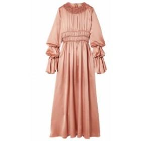 ロクサンダ ROKSANDA レディース ワンピース ワンピース・ドレス Zoya ruched silk-satin maxi dress Antique rose