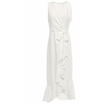 サンク ア セプト CINQ A SEPT レディース ワンピース ワンピース・ドレス Nanon bow-detailed ruffled crepe midi dress Ivory