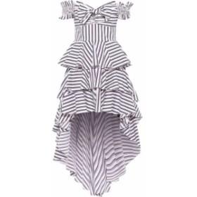 キャロライン コンスタス CAROLINE CONSTAS レディース ワンピース ワンピース・ドレス Artemis off-the-shoulder tiered striped cotton