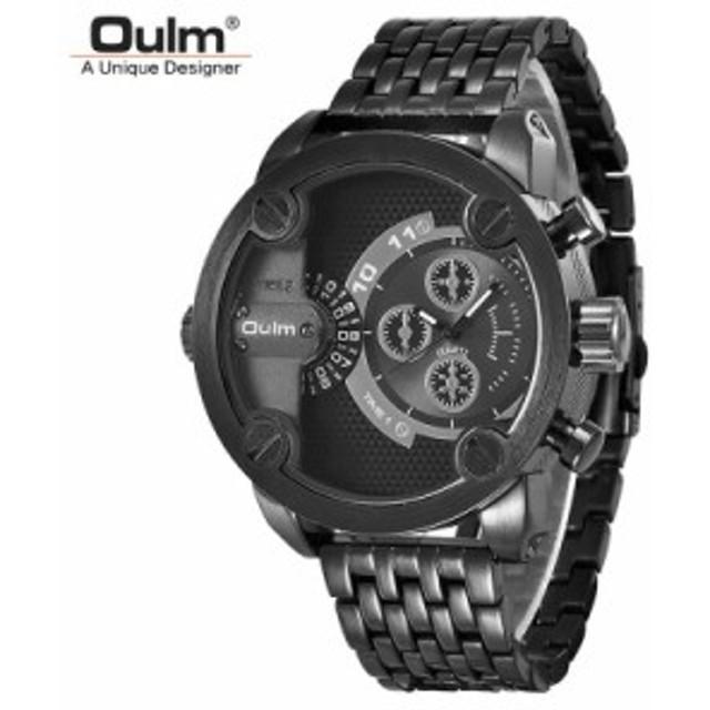 腕時計 メンズ 日本製ムーブメント ごつめ ビッグフェイス クオーツ Oulm-09