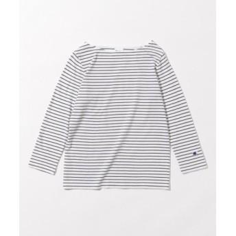 (any SiS/エニィスィス)【L'aube】Chanpionボートネック Tシャツ/レディース ホワイト系1