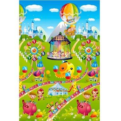 BabyBabe 環保EPE安全拼接地墊-雙面組合C(兒童樂園+大富翁)_六片裝