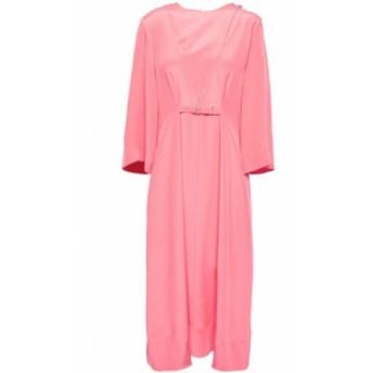 ティビ TIBI レディース ワンピース ワンピース・ドレス Gathered silk crepe de chine midi dress Bubblegum