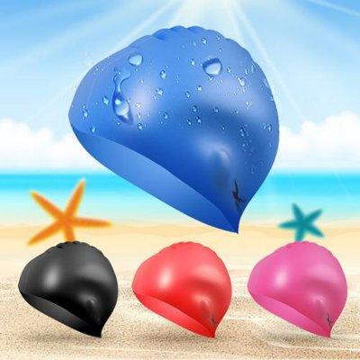 【歡迎比價】矽膠男女通用泳帽 兒童成人游泳帽 防水舒適專業泳帽