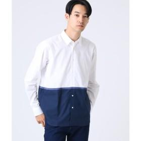 tk.TAKEO KIKUCHI / ティーケー タケオキクチ テープ配色ブロッキングシャツ