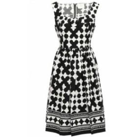 ケイト スペード KATE SPADE New York レディース ワンピース ワンピース・ドレス Printed cotton-blend dress Black