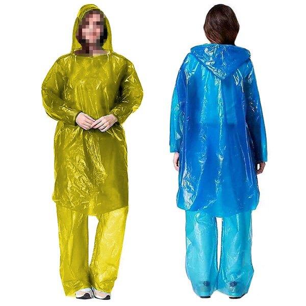 雨衣套裝 雨衣 雨褲 分體式 一次性雨衣 登山露營 旅遊 成人雨衣 防雨 防水 贈品禮品