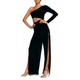 タイガーミスト TIGER MIST レディース オールインワン ワンピース・ドレス Karli One-Shoulder Velvet Jumpsuit Black