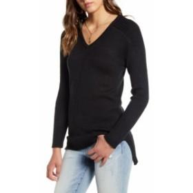 ラブバイデザイン LOVE BY DESIGN レディース チュニック トップス V-Neck Tunic Sweater Black