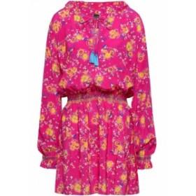 サローニ SALONI レディース ワンピース ワンピース・ドレス Ali floral-print silk crepe de chine mini dress Bright pink