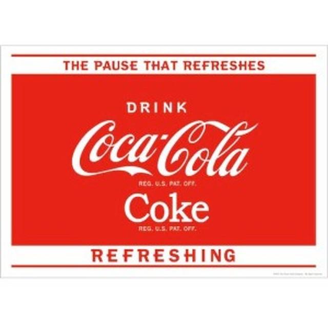 アメリカン雑貨 コカコーラ グッズ ポスター Coca-Cola The Pause-HS0486