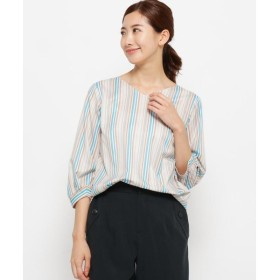 smart pink / スマート ピンク 【手洗い可】マルチジェットストライプシャツ