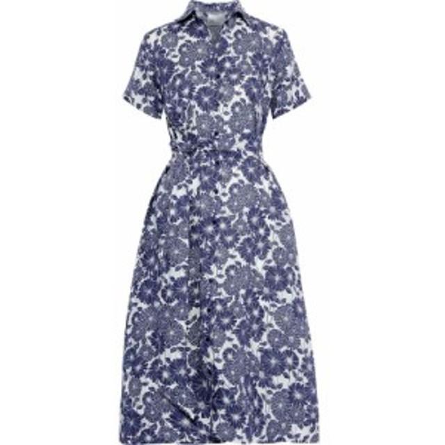 リサ マリー フェルナンデス LISA MARIE FERNANDEZ レディース ワンピース ワンピース・ドレス Belted floral-print linen shirt dress N