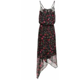 ドド バー オア DODO BAR OR レディース ワンピース ワンピース・ドレス Asymmetric crystal-embellished chiffon dress Black