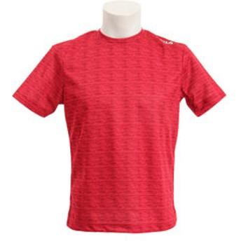 【Super Sports XEBIO & mall店:トップス】ジャガード 異素材切替 半袖Tシャツ 419-329-RD
