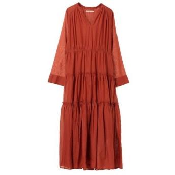 ne Quittez pas ヌキテパ / ヌキテパ/COTTON SOLID GATHER LONG DRESS