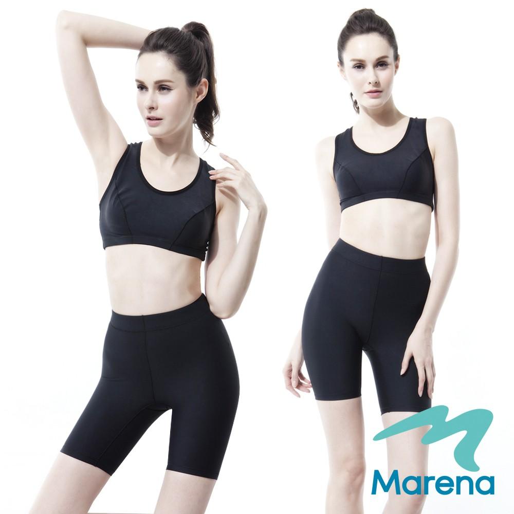 MARENA 美國原裝 魔力輕塑中腰五分塑身褲/顯瘦機能抗菌束褲(黑色)