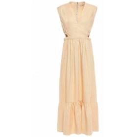 ティビ TIBI レディース ワンピース ワンピース・ドレス Cutout linen midi dress Pastel orange