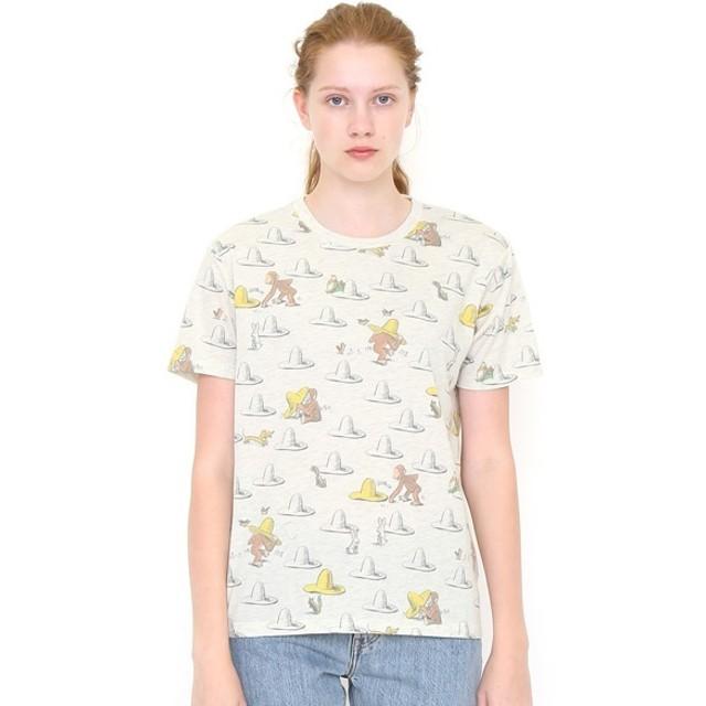[マルイ] 【ユニセックス】コラボレーションTシャツ/帽子パターン(おさるのジョージ)/グラニフ(graniph)