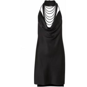 ホルストン ヘリテイジ HALSTON HERITAGE レディース ワンピース ワンピース・ドレス Satin-crepe halterneck mini dress Black