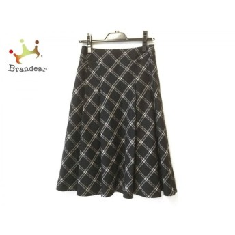 ジユウク 自由区/jiyuku ロングスカート サイズ36 S レディース 黒×白 チェック柄/ラメ 新着 20190823