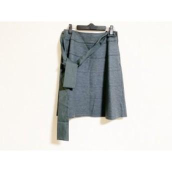 トゥービーシック TO BE CHIC スカート サイズ40 M レディース 美品 グレー リボン【中古】