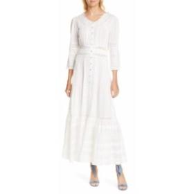 ラブシャックファンシー LOVESHACKFANCY レディース ワンピース ワンピース・ドレス Selma Cotton Maxi Dress Antique White