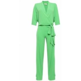 バイ マレーネ ビルガー BY MALENE BIRGER レディース オールインワン ワンピース・ドレス Wrap-effect crepe jumpsuit Green
