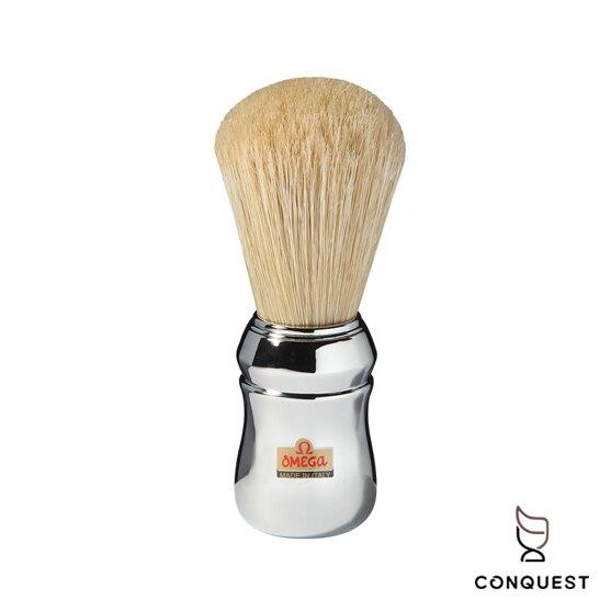 【 CONQUEST 】OMEGA 義大利 專業鬍刷品牌 Shaving Brush 100%純豬鬃毛 刮鬍刷 10048
