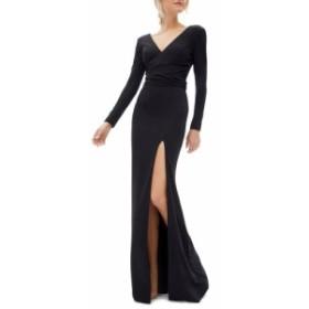 ドレス ザ ポピュレーション DRESS THE POPULATION レディース パーティードレス ワンピース・ドレス Carmen Long Sleeve V-Neck Gown Bl
