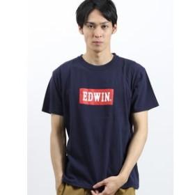 【on the day:トップス】エドウィン/EDWIN ロゴプリント クルーネック半袖Tシャツ