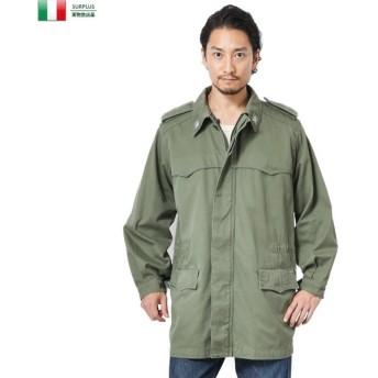 実物 USED イタリア軍 フィールドコート エポレット付き メンズ ミリタリーコート ミリタリージャケット アウター ブルゾン ジャンバー 軍服 軍物 放出品