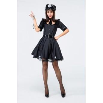 ポリス ハロウィン仮装 セクシー 警察官 ポリス 婦人警官 コスチューム HALLOWEEN レディース 可愛い ワンピース 女性用