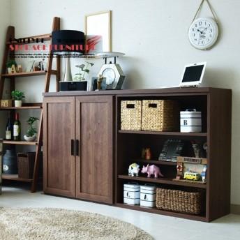 キッチンカウンター 幅160cm 日本製 サイドボード 書棚 リビングボード 食器棚