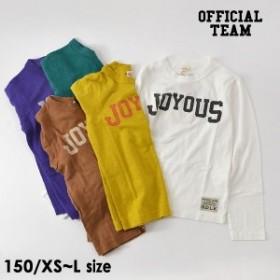 オフィシャルチーム 129014A-M16-C7 JOYOUS T-SHIRT ジュニア トップス Tシャツ カットソー ロンT 長袖 シンプル ロゴ 子供服 OFFICIAL T