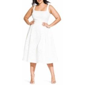 シティーシック CITY CHIC レディース ワンピース ワンピース・ドレス Jackie O Lace Fit & Flare Dress Ivory