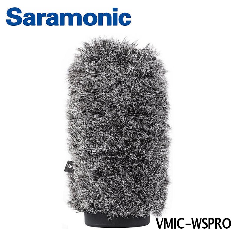 Saramonic 麥克風戶外防風毛套 VMIC-WSPRO 兔毛 適用VmicPro [相機專家] [勝興公司貨]