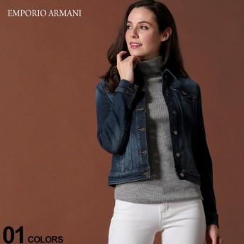 エンポリオ アルマーニ レディース EMPORIO ARMANI デニムジャケット ロゴ ストレッチ ブランド アウター ジージャン EAL6G2B642D2BZ