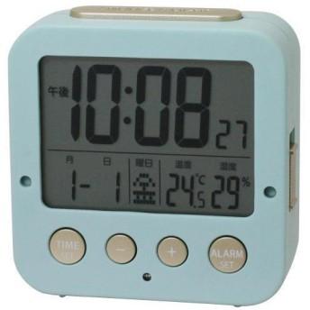 電波時計 常時点灯 置き時計 IAC-5637-IGD