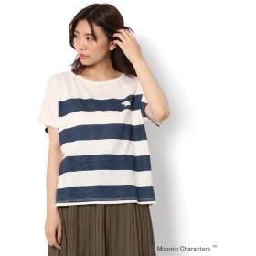 【サマンサモスモス/Samansa Mos2】 【ムーミン】ボーダープリントTシャツ