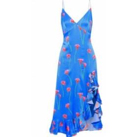 キャロライン コンスタス CAROLINE CONSTAS レディース ワンピース ワンピース・ドレス Elvira ruffle-trimmed cotton-blend satin dress