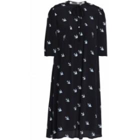 アレキサンダー マックイーン McQ Alexander McQueen レディース ワンピース ワンピース・ドレス Pintucked printed woven dress Midnigh