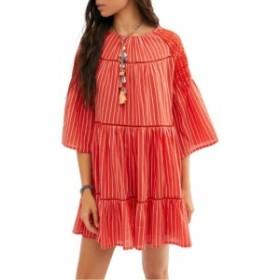 フリーピープル FREE PEOPLE レディース ワンピース ワンピース・ドレス Lola Embroidered Minidress Orange