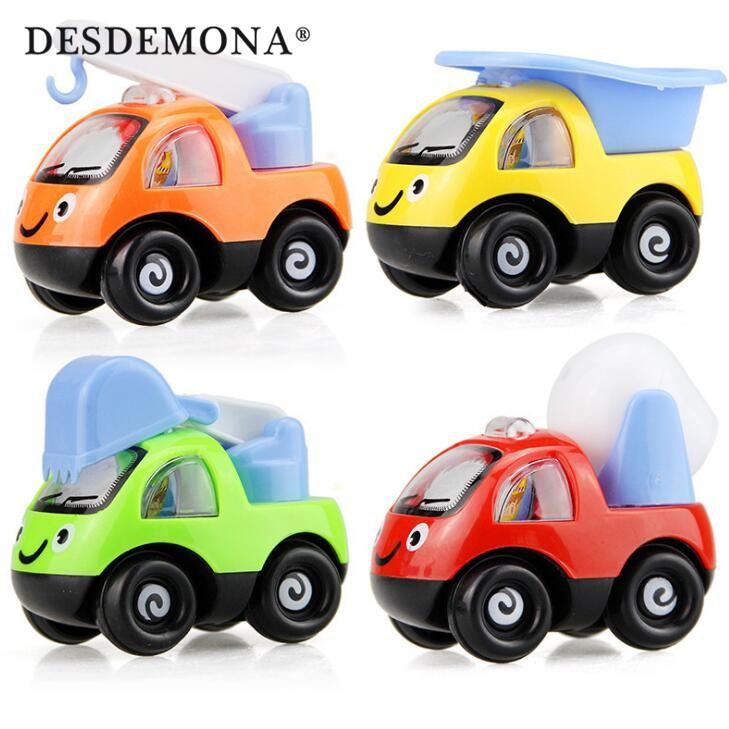 嬰幼兒早教玩具交通造型玩具兒童回力玩具車卡通工程車 塑膠模擬模型汽車玩具 兒童玩具