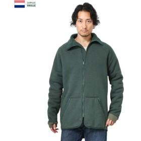 実物 USED オランダ軍 ボアフリース ライナージャケット メンズ フリースジャケット ミリタリージャケット ジャンバー アウター 軍服 軍物 放出品
