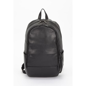 PATRICK STEPHAN Leather backpack 'round double F' バックパック/リュック リュック・バッグパック,BLACK(ブラック)