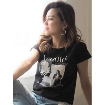 (RESEXXY/リゼクシー)グラフィック&ロゴTシャツ/レディース ブラック