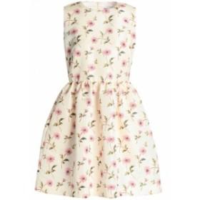 レッド ヴァレンティノ REDValentino レディース ワンピース ワンピース・ドレス Flared floral-print faille mini dress Cream