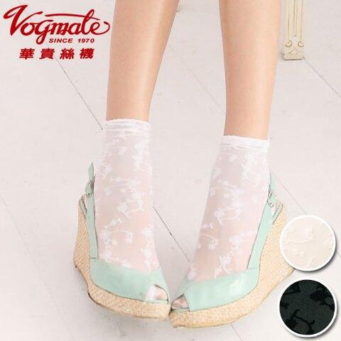 【esoxshop】╭*華貴 日韓流行立體時尚緹花短襪╭*氣質加分《花邊/踝襪/少女襪/花朵》